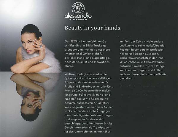 alessandro International | Beauty in your hands.