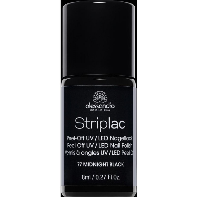 alessandro Striplac Nagellack MIDNIGHT BLACK 8ml